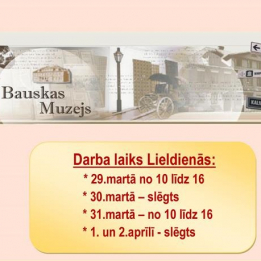 Important news from the Bauska Museum